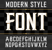 Vector Label Font, Modern Style.  Whiskey Label Style.