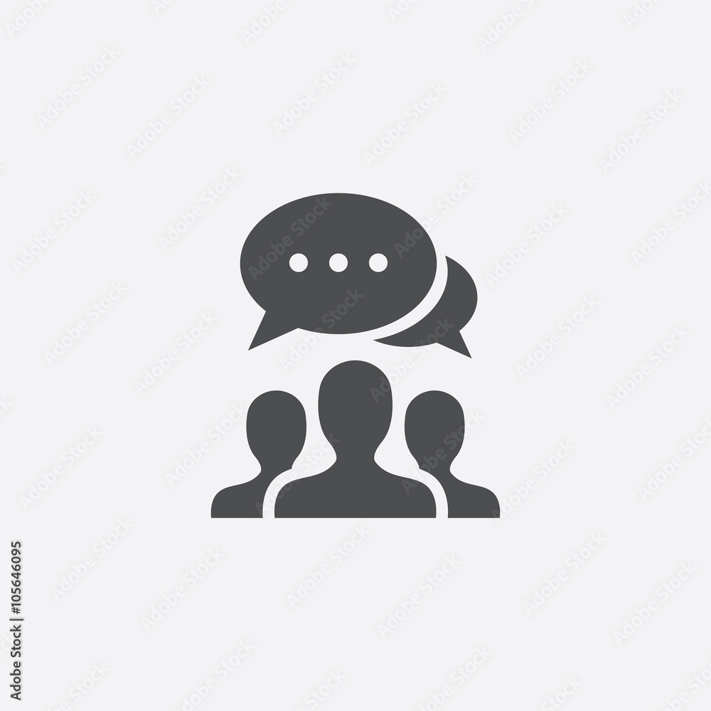 Fototapeta discussion icon
