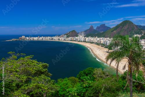 Copacabana beach in Rio de Janeiro, Brazil Poster