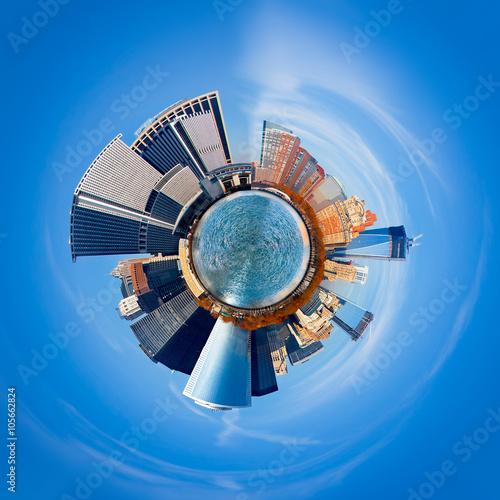 Poster  New York City 360 degree panorama