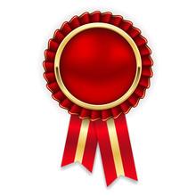 Rot-goldene Vektor Rosette Als...