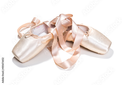 Fotografie, Obraz  Pink ballet shoes isolated