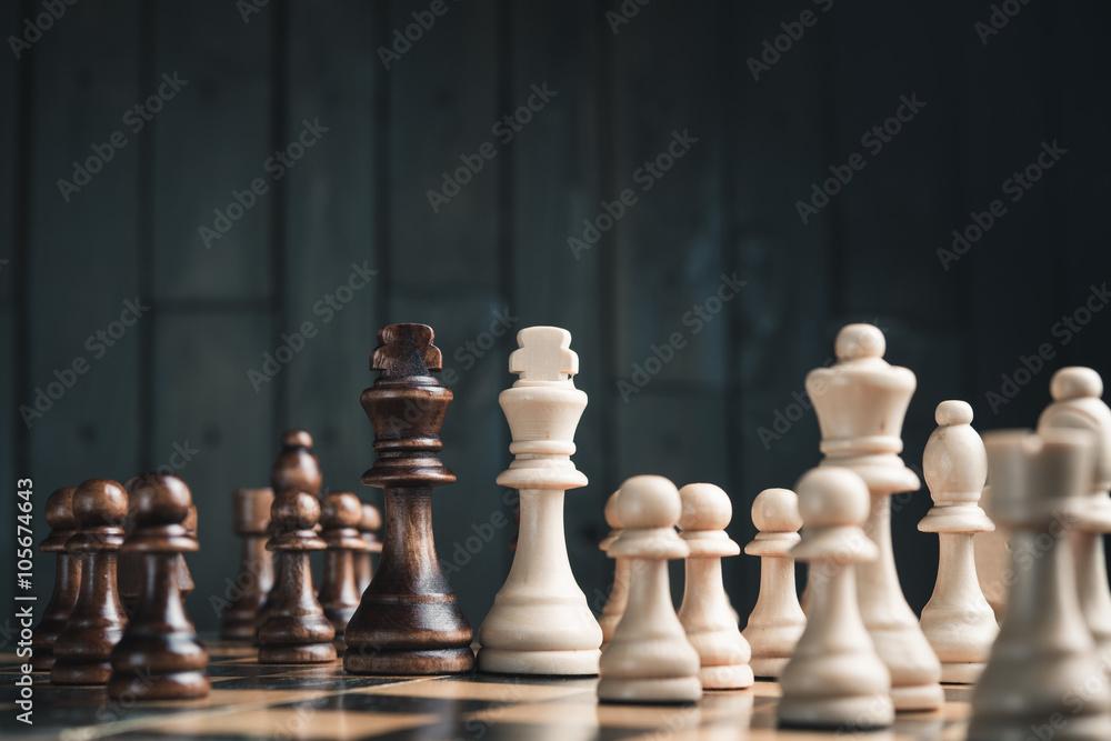 Photographie  Deux rois d'échecs
