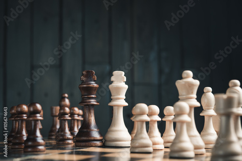 Fotografia  two chess kings