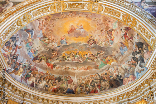 Rome - The Glory of Heaven fresco (1630) in main apse of church Basilica di Sant Wallpaper Mural