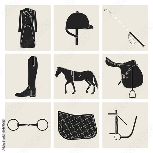 Fotografía  Black equestrian icons