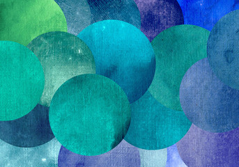 Fototapeta Abstrakcja Beautiful abstract circles background of bright green blue colors