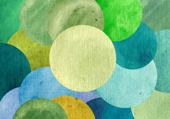 FototapetaBeautiful abstract circles background of bright green blue colors