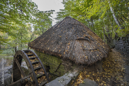 old traditional water mill