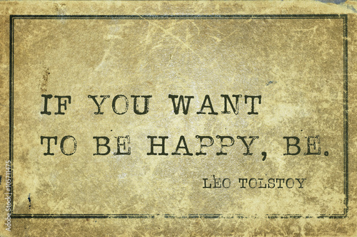 Photo  be happy Tolstoy