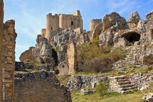 Fototapeta A Castle in the sky - The Lady Hawk Castle, Rocca Calascio - Aquila - Italy