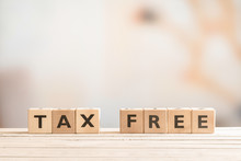 Tax Free Sign Made Of Wood