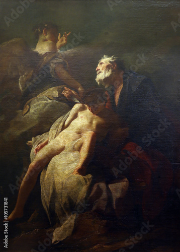Fotografiet  Federico Bankovic: Abraham's sacrifice of Isaac, Old Masters Collection, Croatia