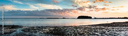 Fotografia, Obraz  Westport Connecticut at low tide during sunset