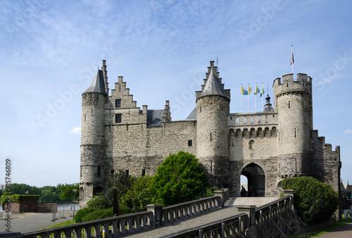 Keuken foto achterwand Antwerpen Steen Castle (Het steen) in the old city centre of Antwerp