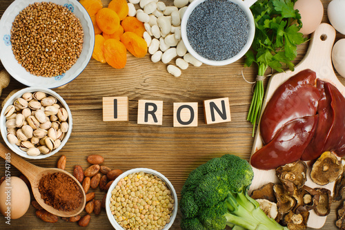 Fotomural Iron rich foods