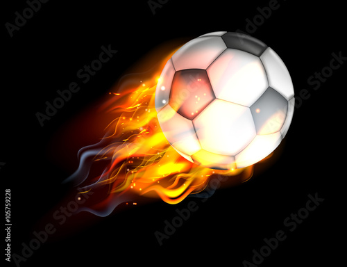 Photo  Soccer Ball on Fire