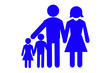 Leinwandbild Motiv Happy Family concept isolated on white