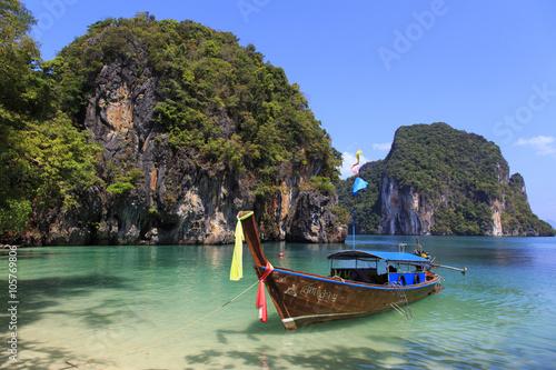 Staande foto Eiland Thailand Thai Boat