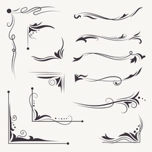 Vector Elegant Arabic Vignettes