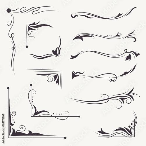 Fototapeta Vector Elegant Arabic Vignettes obraz