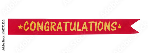 Congratulations banner Wallpaper Mural