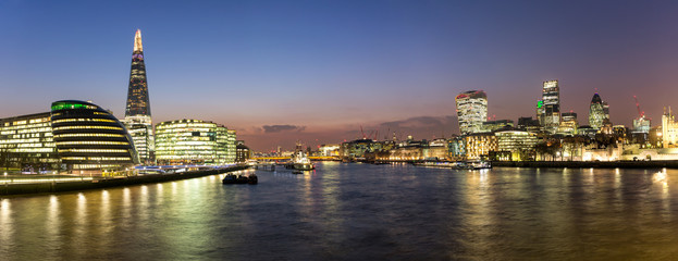 Panel Szklany Londyn Panorama über die City von London