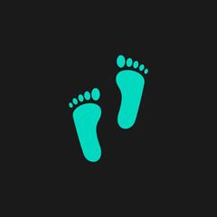 Fototapeta na wymiar footprint - vector icon