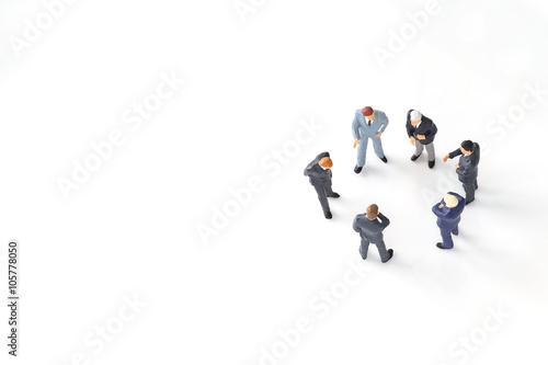 Fotografie, Obraz  miniature businessmen