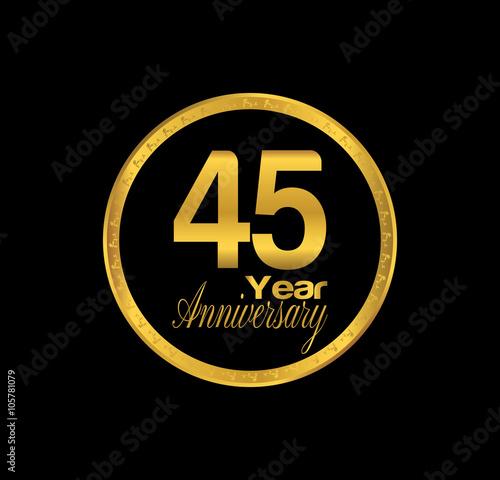 Платно  45 anniversary with black golden ring