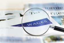 Business Office Wages Concept