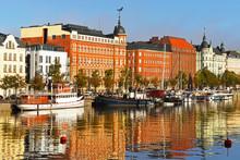 Finland, Helsinki. Water Landscape, Northern Harbor