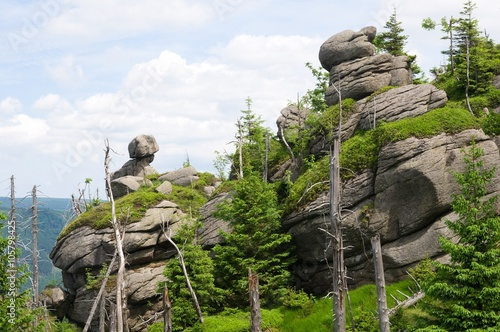 Fotografie, Obraz  Granite rock Poledni kameny in the Jizera mountains, North Bohemia, Czech republ