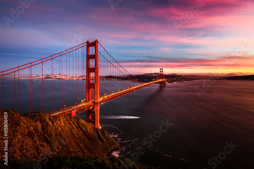 fototapeta na ścianę Golden Gate Bridge sunset