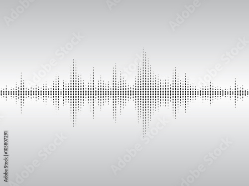 Fotomural  Abstract sound waves.