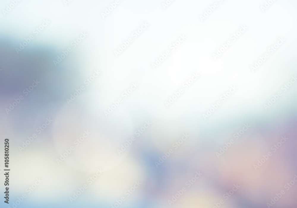 Fototapety, obrazy: Abstract blur view nature sky blue, circle bokeh background. bok
