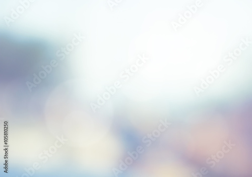 Fotomural Abstract blur view nature sky blue, circle bokeh background. bok