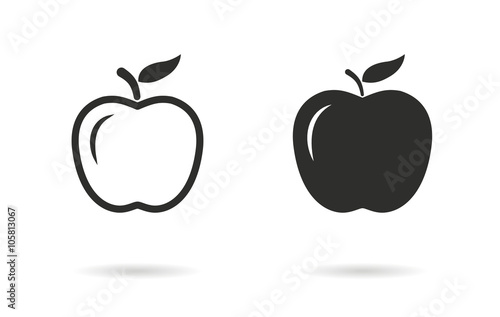 Valokuva  Apple - vector icon.