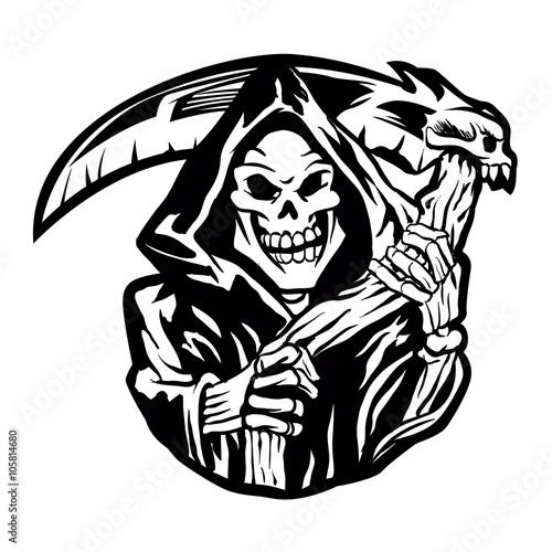 grim reaper sign Wallpaper Mural