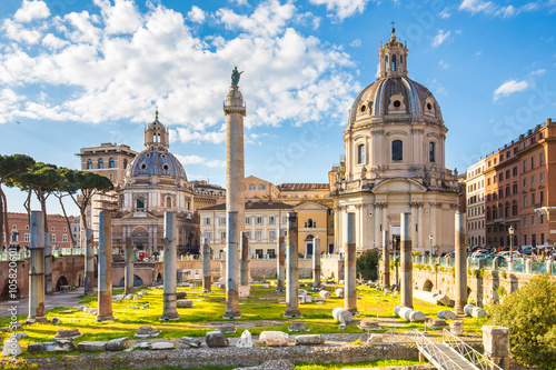 The Trajan's Forum in Rome, Italy.