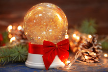 Christmas Snow Globe With Red ...
