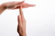 Leinwandbild Motiv Break time hand gesture