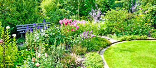 Cadres-photo bureau Jardin Erholung im Garten