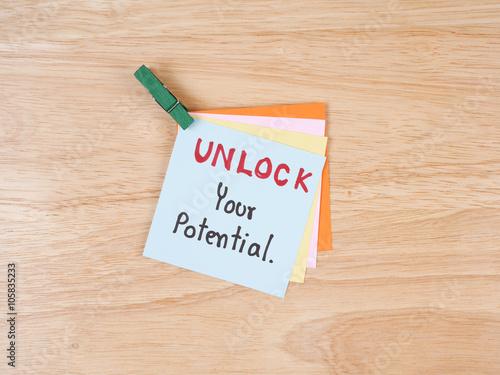 Fotografie, Obraz  Unlock your potential 2
