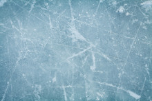 Ice Hockey Rink Background Or Texture, Macro, Top View