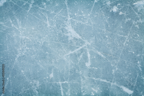 Fotografie, Obraz  Ice hockey rink background or texture, macro, top view