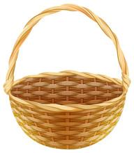 Empty Wicker Basket. Wicker Ba...