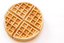 Waffle Breakfast Isolated In White