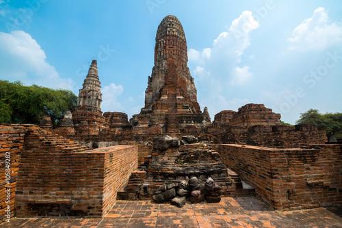 Deurstickers Bedehuis Wat Ratchaburana Temple, Ayutthaya, Thailand