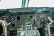 Cockpit mit Steuerrad